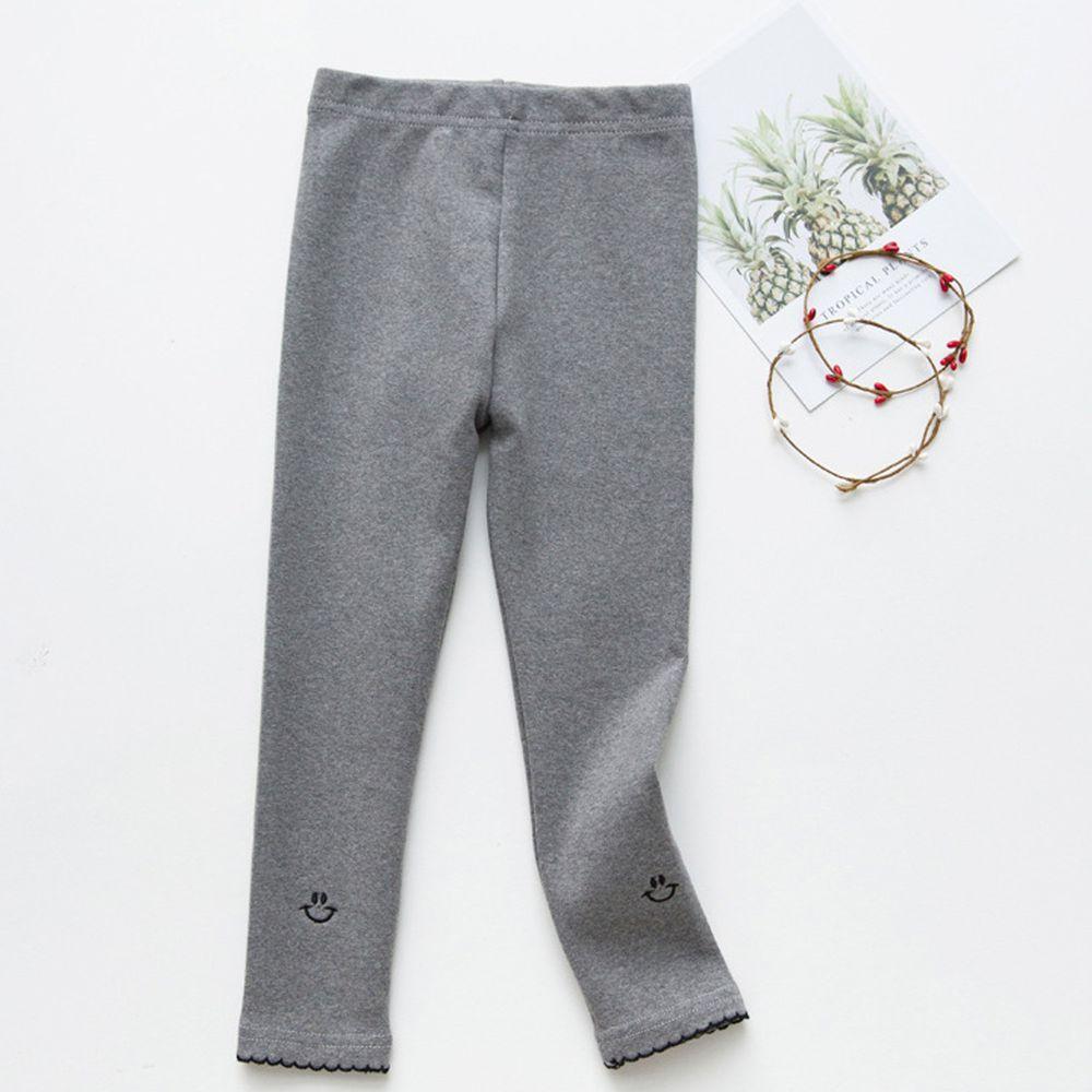 FANMOU - 內搭褲-笑臉-灰色