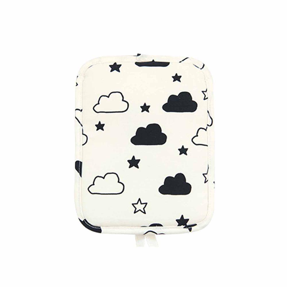 日本代購 - 背巾/推車保冷墊 (附保冷劑/可當小背包)-黑白星星雲朵