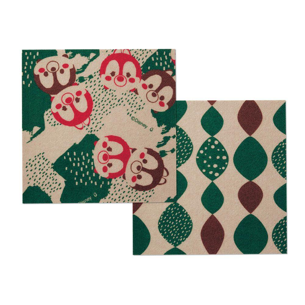 日本千趣會 - 迪士尼 日本製室內輕薄地毯(可機洗)-奇奇蒂蒂 (30x30cm)-各色2枚(共6枚)