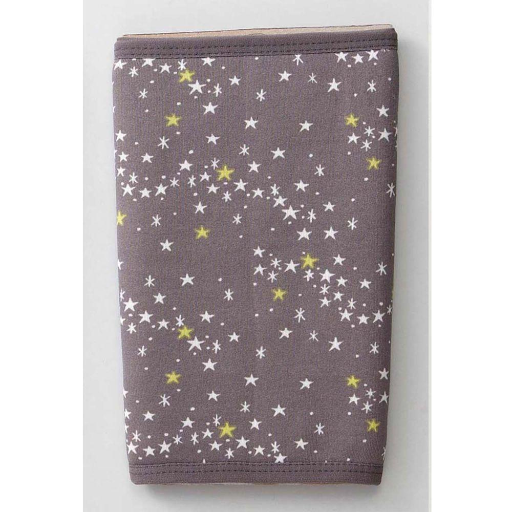 日本丸和 - 雙層機能裏起毛保暖襪套-滿天星-灰 (13x20cm)