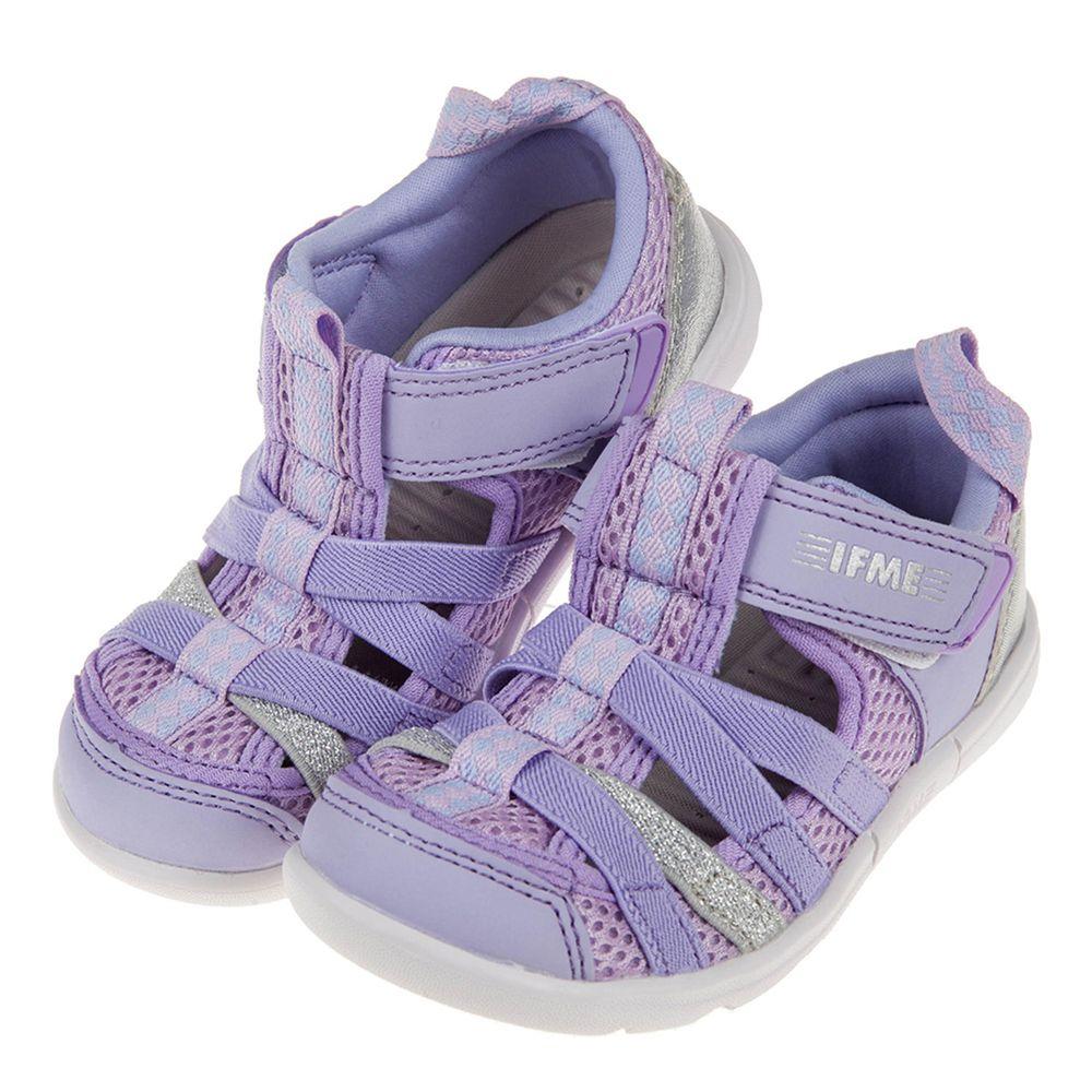 IFME - 紫色亮銀兒童機能水涼鞋