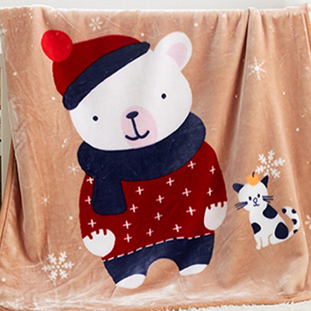 株式會社 - 日式雲童毯-雪花熊 (100*140公分)