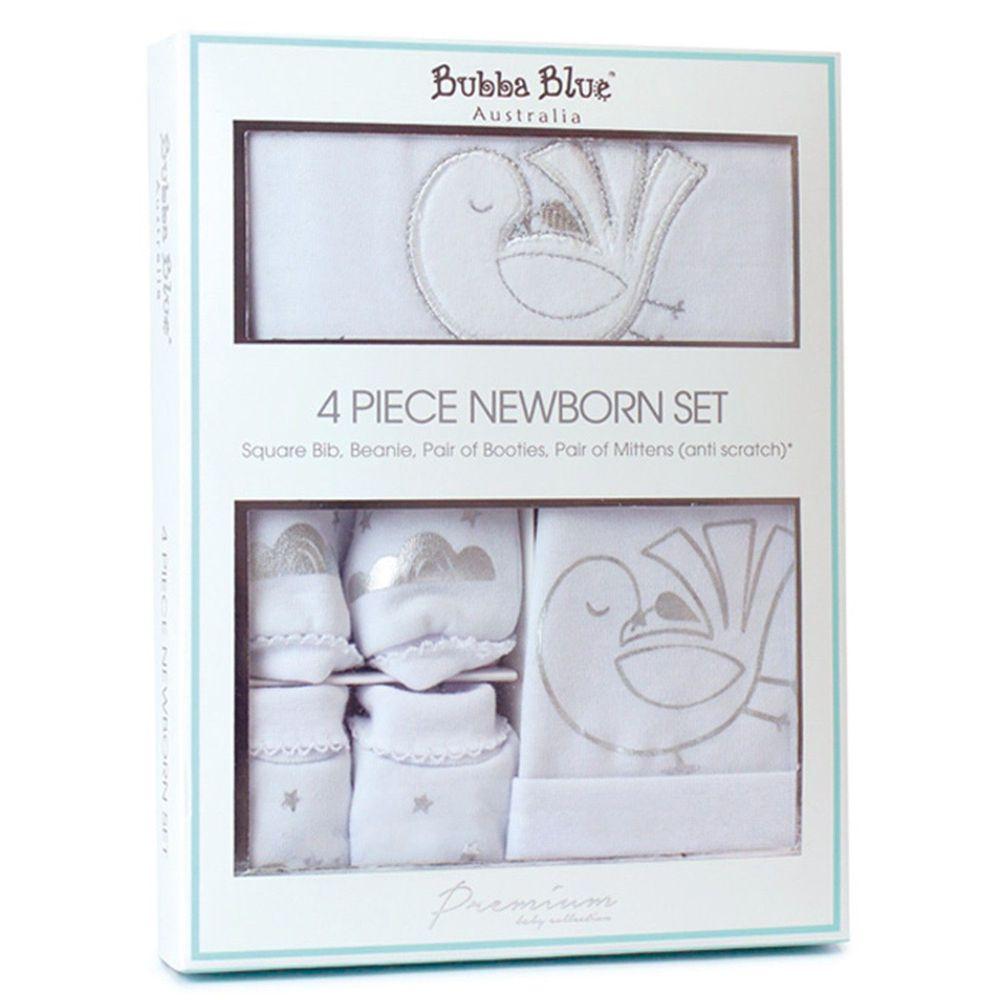 澳洲 BubbaBlue - 純棉新生兒禮盒組-送子鳥