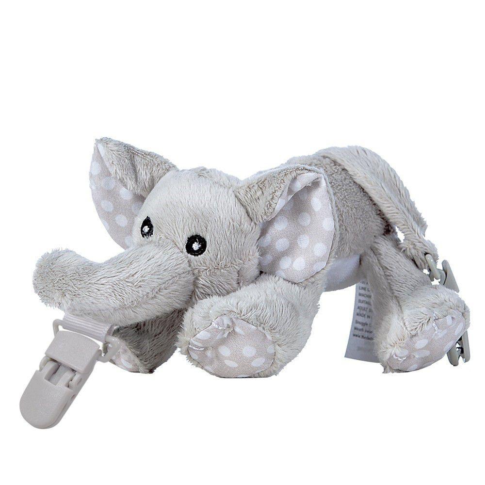 Snuggle 史納哥 - 娃娃奶嘴夾-小灰象