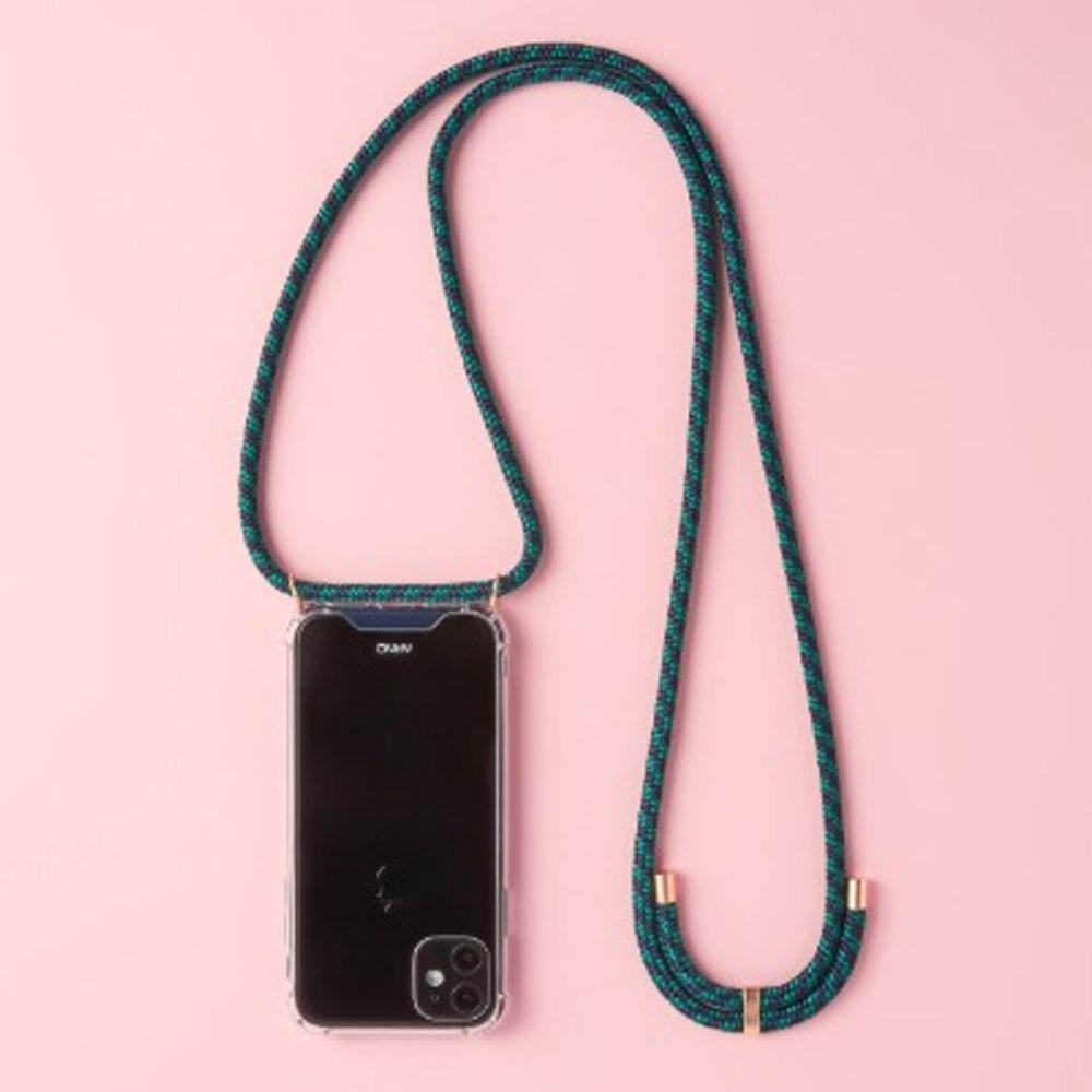 韓國 ARNO - 編繩背帶透明手機殼-倫敦綠