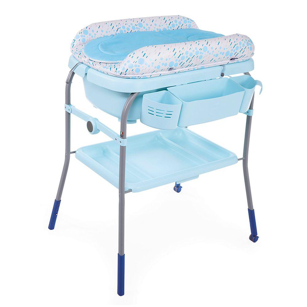 義大利 chicco - Cuddle & Bubble洗澡尿布台-泡泡水藍