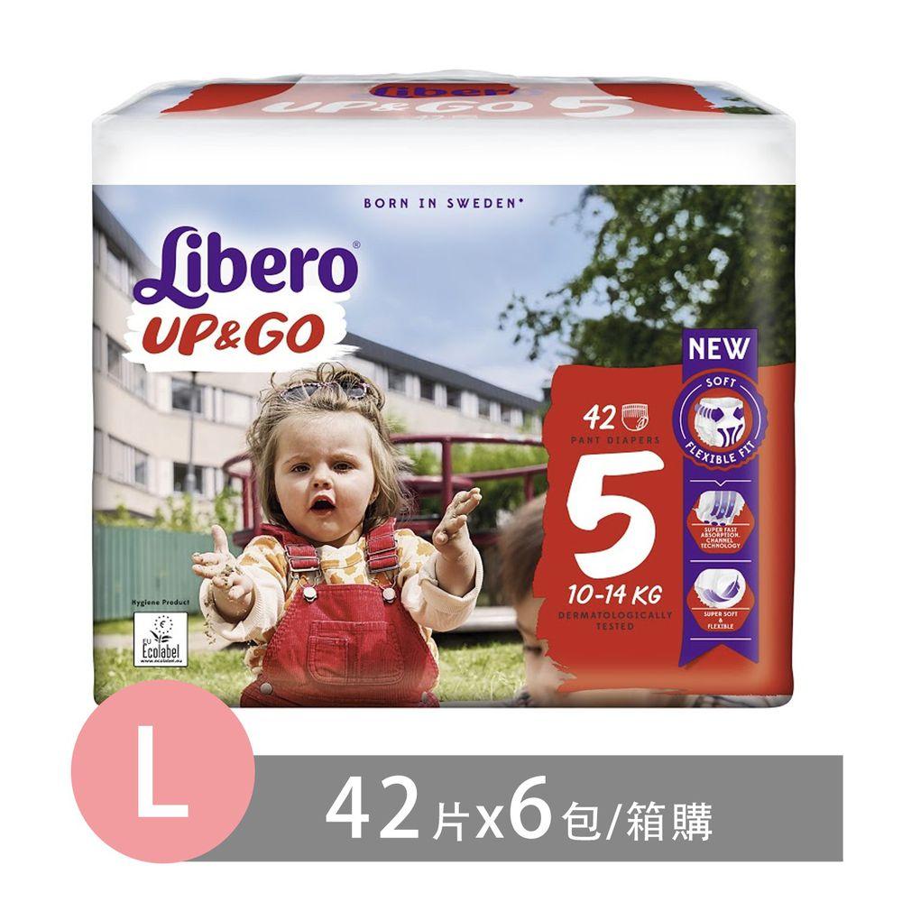 麗貝樂 - 褲型紙尿褲-敢動褲5號(新升級)-超薄合身超好動 (L/5號)-42片×6包
