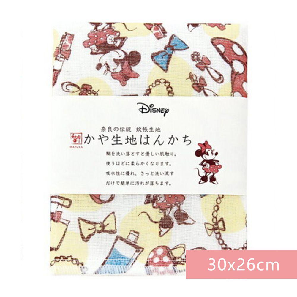 日本代購 - 【和布華】日本製奈良五重紗 手帕-米妮化妝品 (30x26cm)