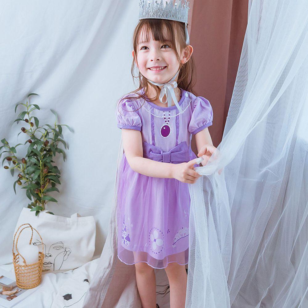 短袖造型公主裙-夢幻紫