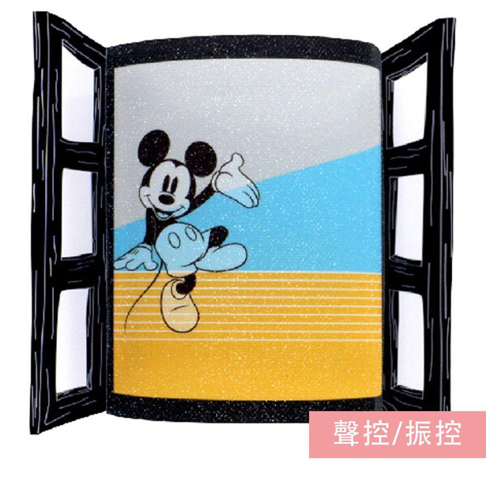 日本 TOYO CASE - LED 感應夜燈壁飾-迪士尼窗戶系列-米奇 (約8x3x11cm)
