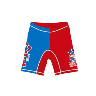 防UV運動型泳褲-紅x藍 (120cm)