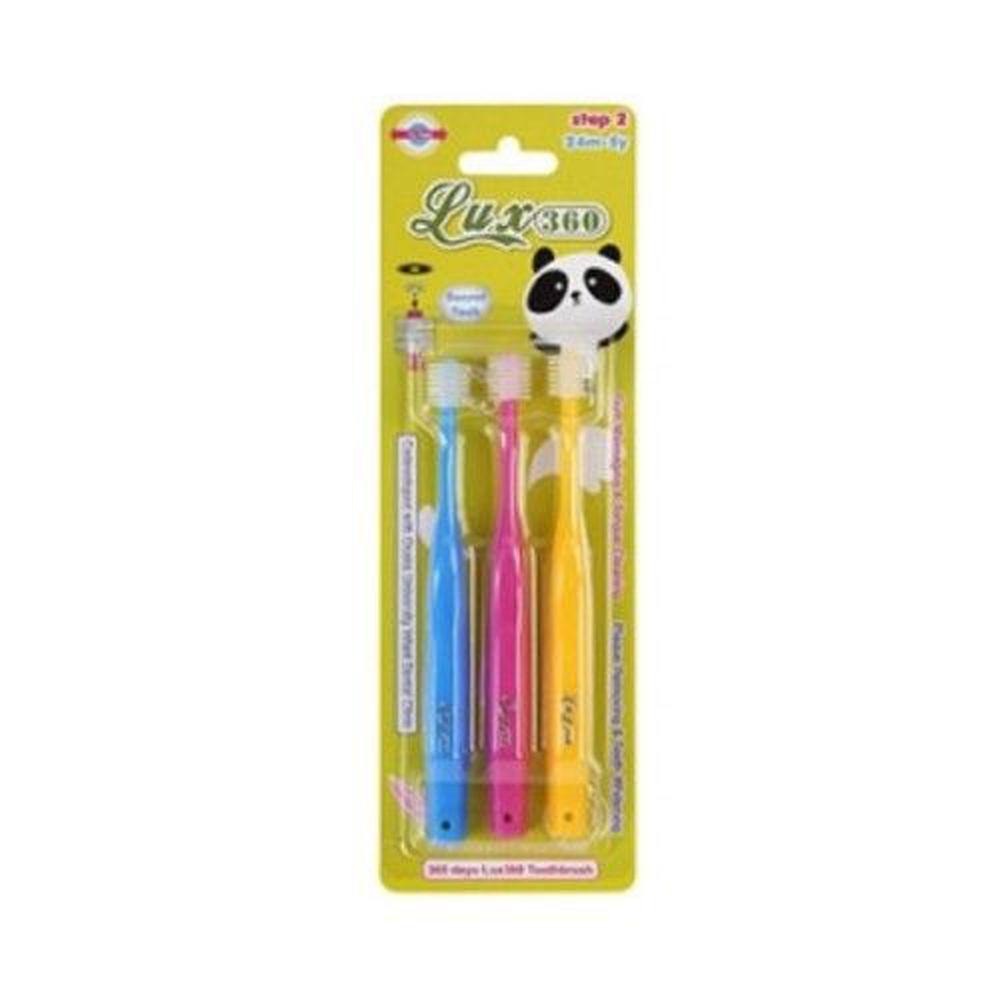 日本 VIVATEC - Lux360度幼童牙刷 Step2 (25m-4y)-3入