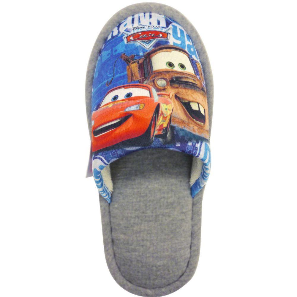 日本千趣會 - 兒童室內拖鞋-CARS-灰 (18cm)
