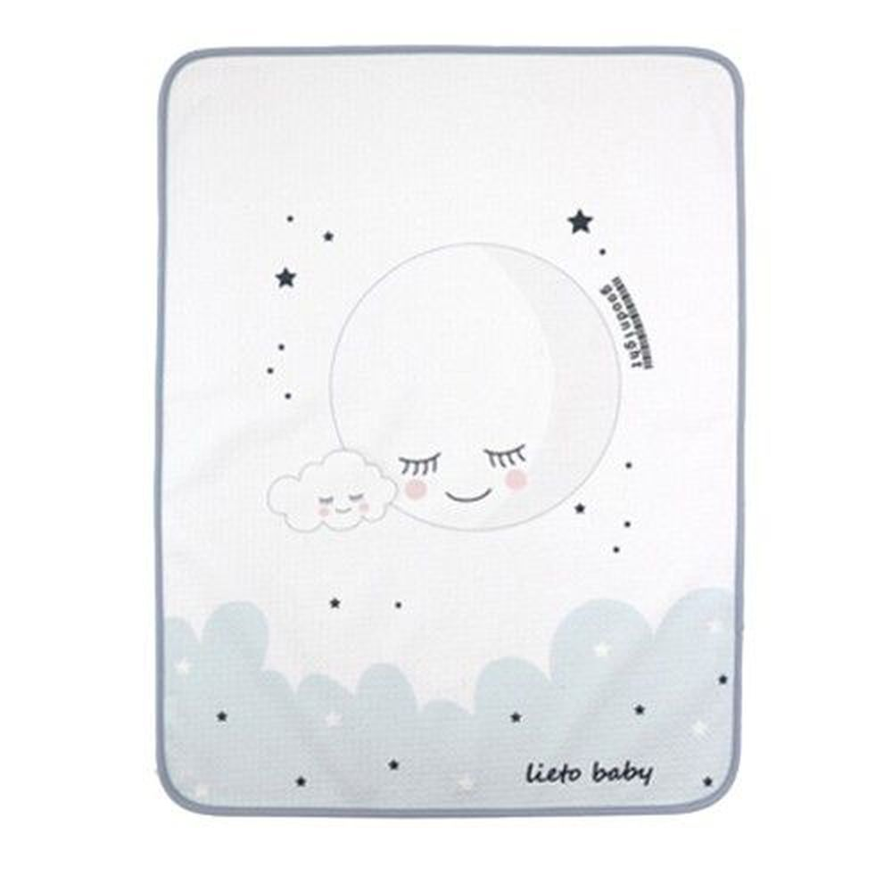 韓國 Lieto baby - 童話風有機棉防水墊-晚安月亮 (65*85cm)