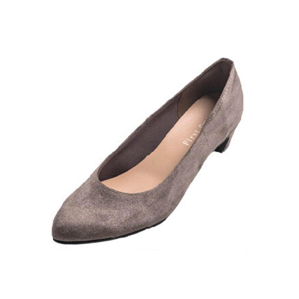 日本女裝代購 - 日本製 柔軟尖頭5.5cm高跟鞋-麂皮-橡褐