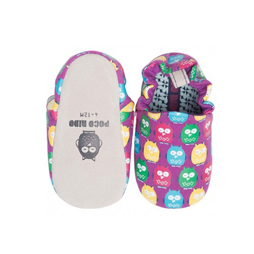 英國 Poconido - 寶寶手工鞋-繽紛貓頭鷹