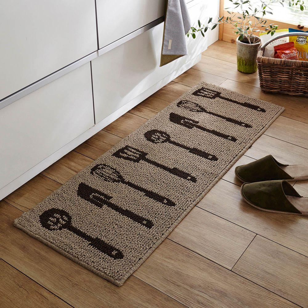 日本千趣會 - 日本製 長毛舒適腳踏墊(廚房/臥室)-廚具