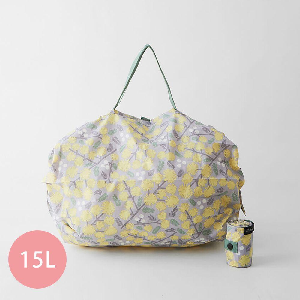 日本 MARNA - Shupatto 秒收摺疊購物袋-五週年限定升級款-詩意黃花 (M(30x35cm))-耐重5kg / 15L