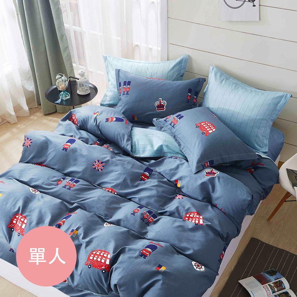 PureOne - 極致純棉寢具組-倫敦小鎮-單人兩件式床包組