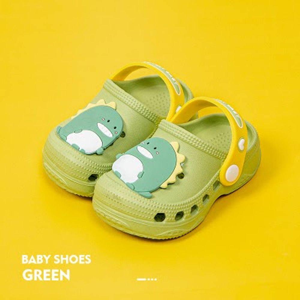 Cheerful Mario - 洞洞涼鞋-動物款-恐龍綠