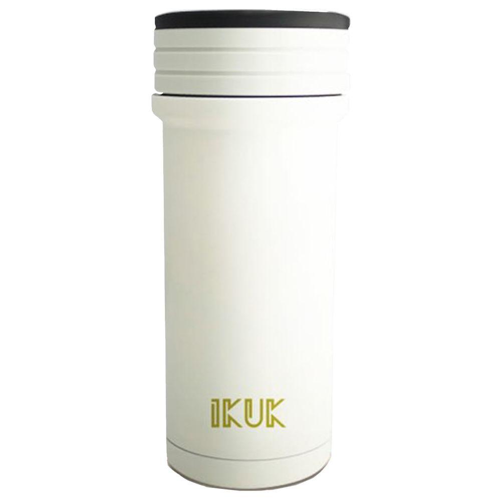 IKUK - 真空雙層好提火把陶瓷保溫杯-白色 (350ML)