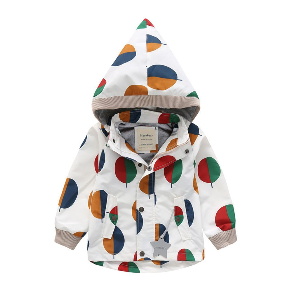 防風防雨加絨衝鋒外套-尖帽-小樹