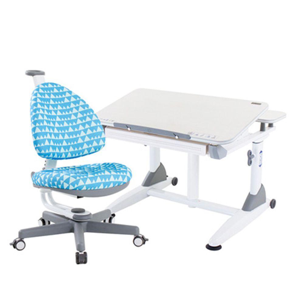 大將作 kid2youth - G2C+XXS成長桌椅組(BABO C椅)-粉藍