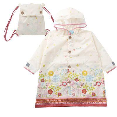 小童雨衣(附收納袋)-最愛庭院