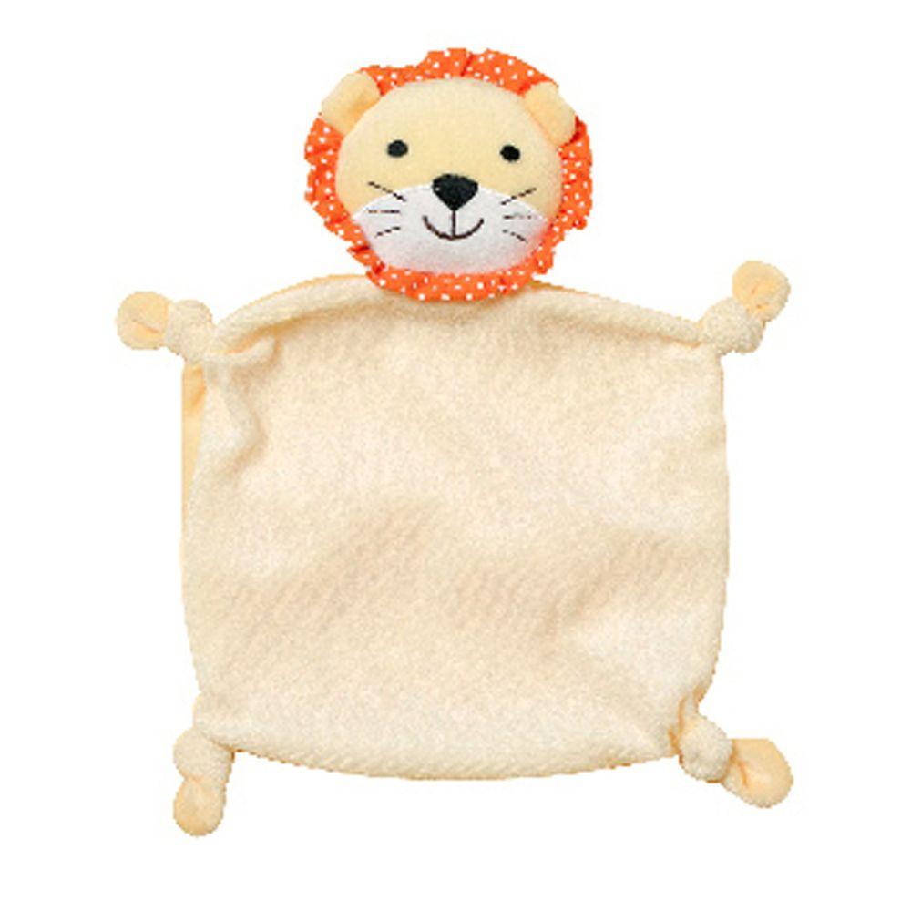 NEW STAR - 經典可愛動物嬰兒安撫巾/口水巾-可愛獅-米色 (18*18CM)