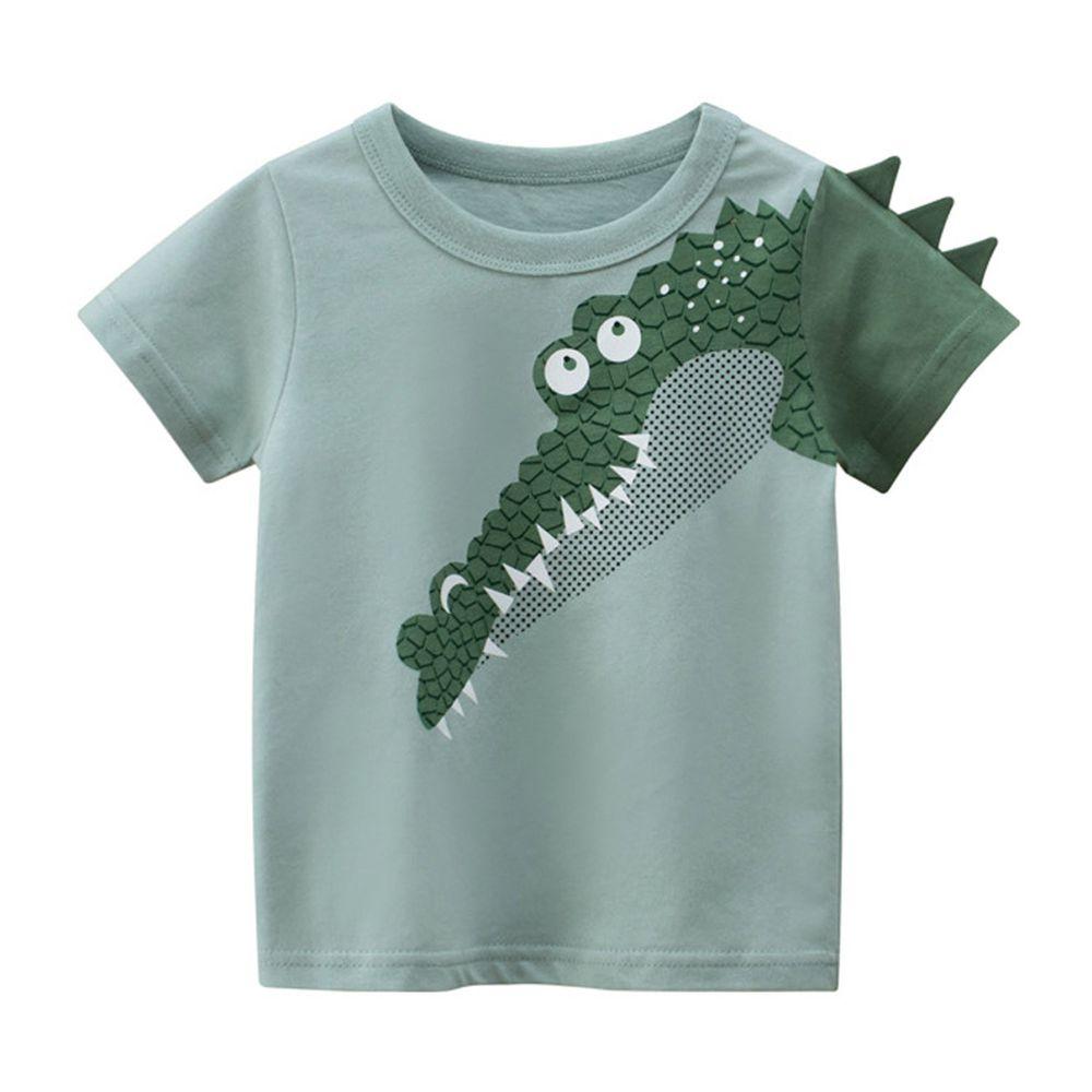 3D恐龍偷看短袖棉T