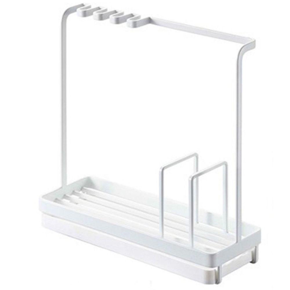 多功能海綿瀝水架-白色
