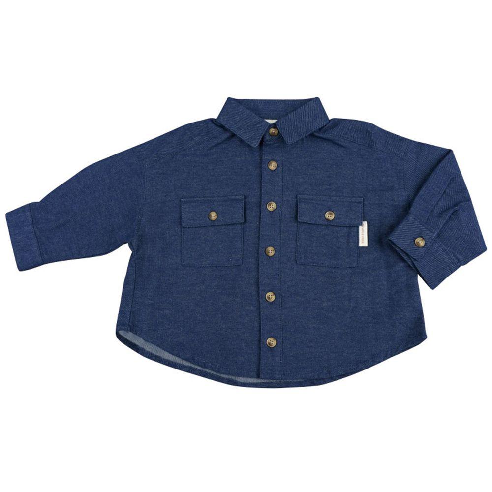 akachan honpo - 長袖襯衫-深藍色