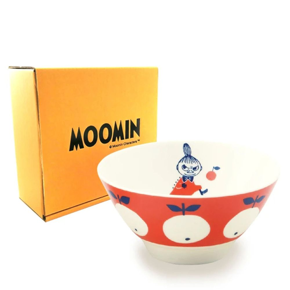 日本山加 yamaka - moomin 嚕嚕米彩繪陶瓷碗禮盒-MM032-312-1入