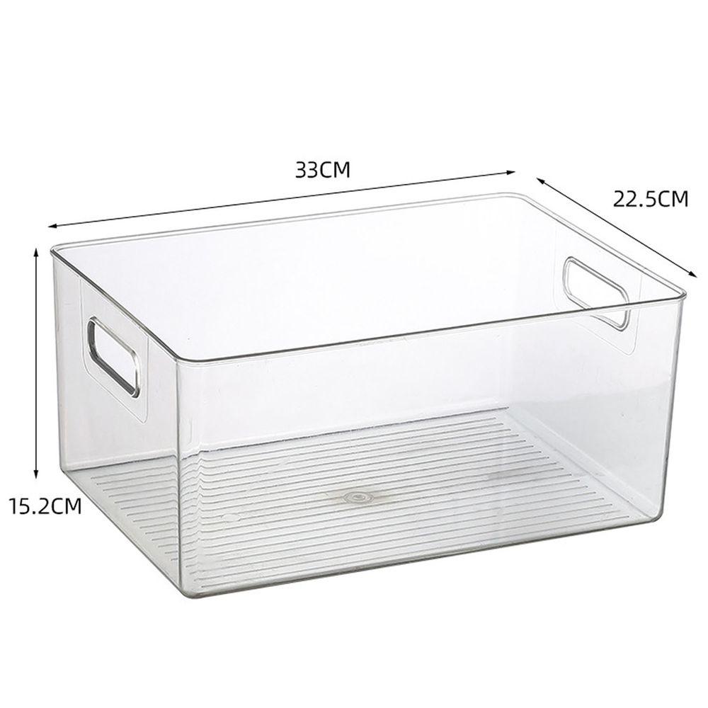 有提把透明收納盒-大號 (33x22.5x15.2cm)-可放A4