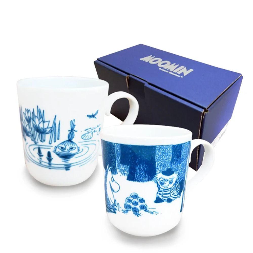 日本山加 yamaka - moomin 嚕嚕米彩繪陶瓷馬克杯禮盒-MM2700-13-2入組