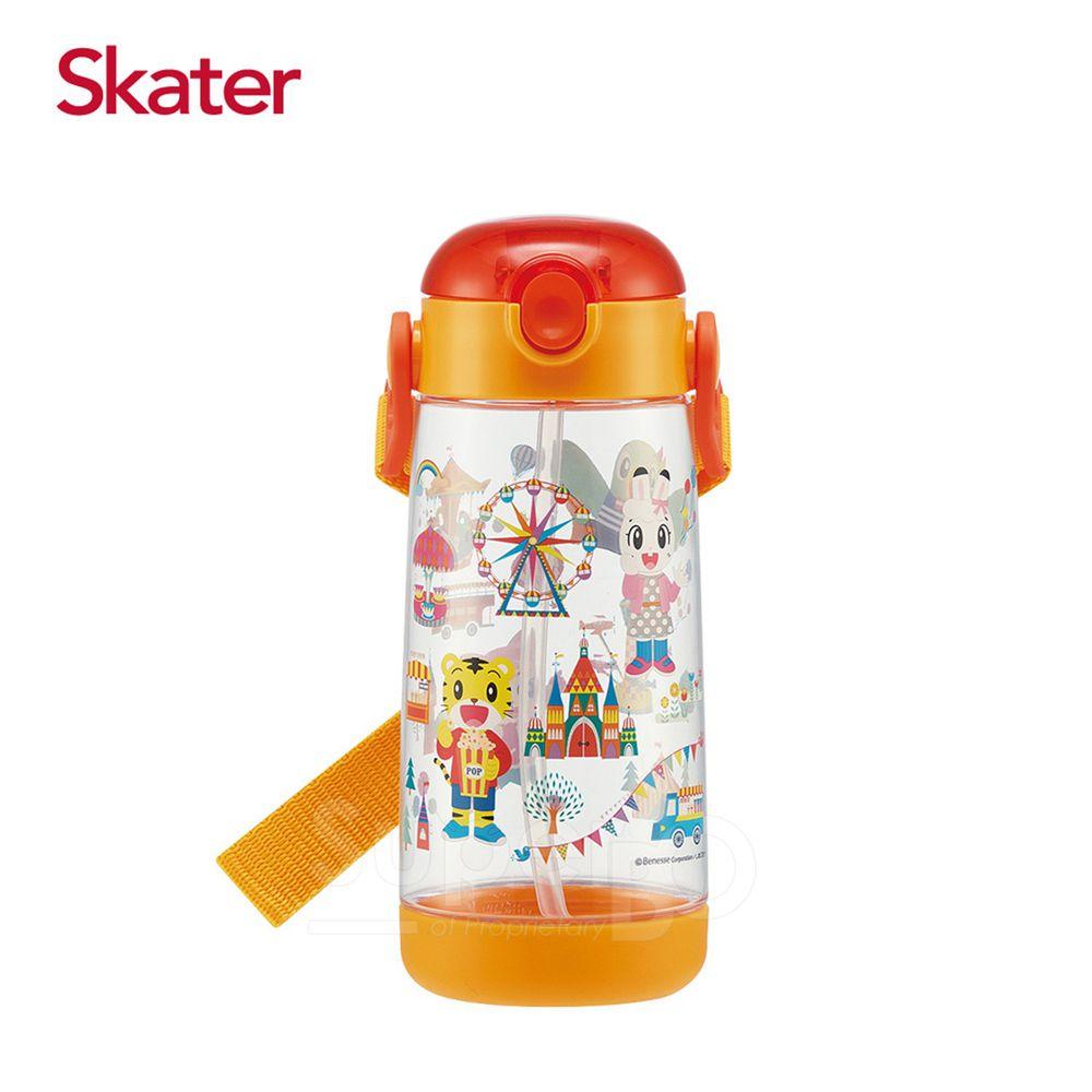 日本 SKATER - 兒童PET吸管水壺(480ml)-巧虎