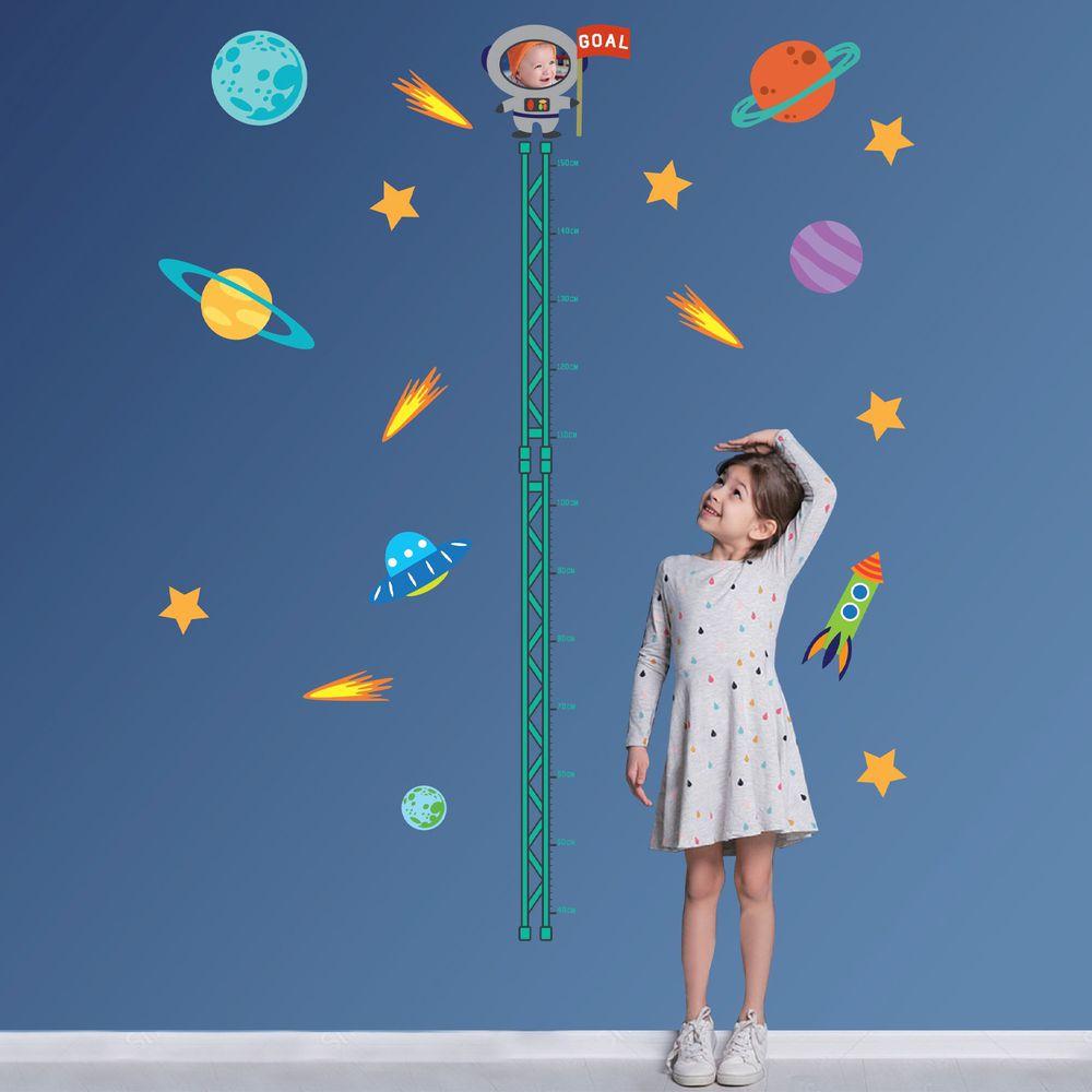Kiss貼貼 - Kiss貼貼靜電無痕隨變貼 主題系列 (飛向宇宙)-身高壁貼 X 22個壁貼 (150cm)