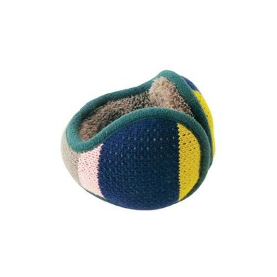 Tehtava北歐風優雅耳罩(成人款)-粗條紋-深藍