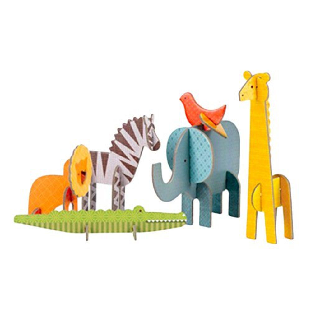 美國 Petit Collage - 立體組裝拼圖-野生動物