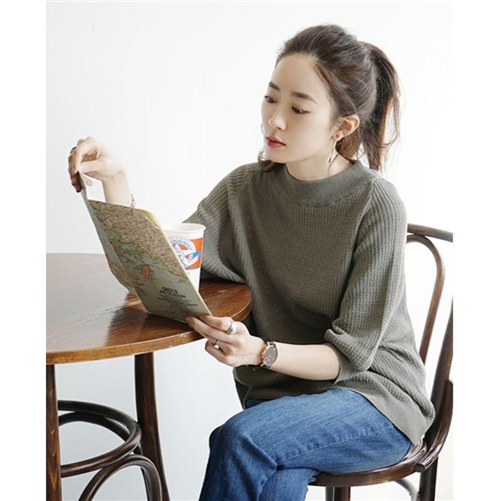 日本 zootie - 涼感防曬速乾 顯瘦五分袖上衣-墨綠 (F)