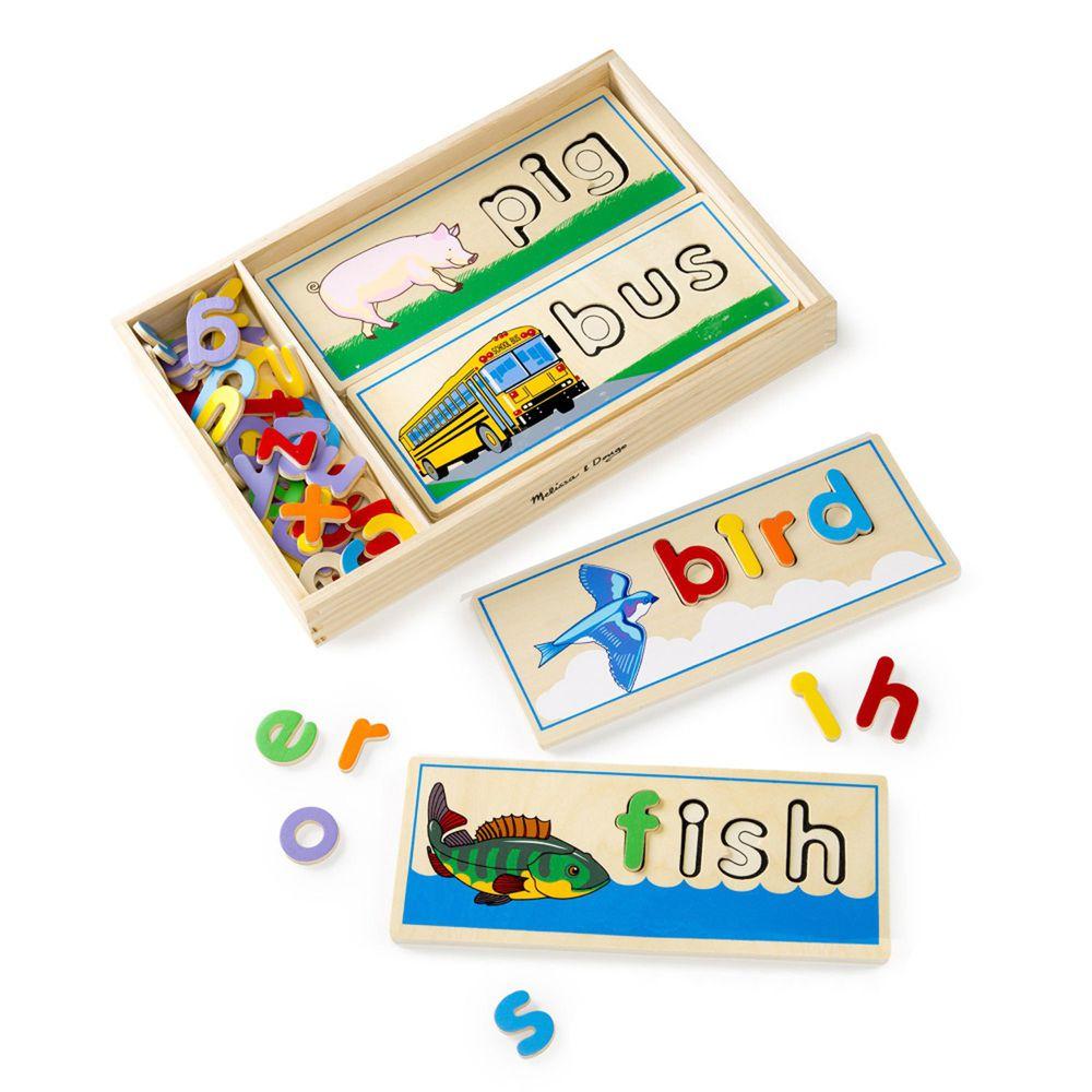 美國瑪莉莎 Melissa & Doug - MD 益智-學拼音,英文配對拼圖卡