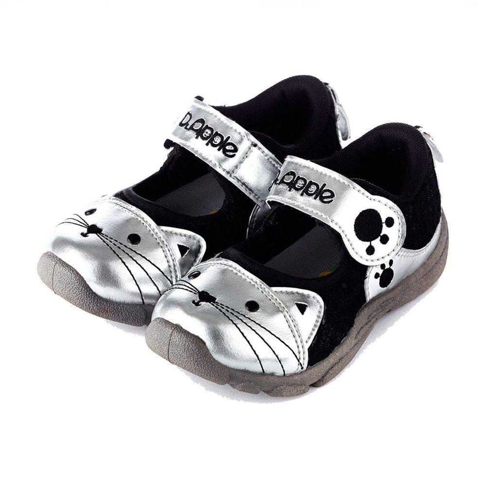 Dr. Apple - 機能童鞋-可愛喵咪透氣涼童鞋-黑