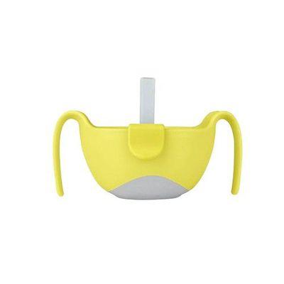 專利吸管三用碗-檸檬黃