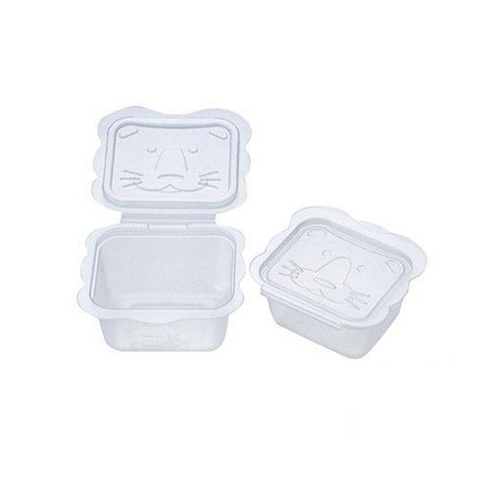 日本 Richell 利其爾 - 卡通型離乳食分裝盒-100mlx8個入