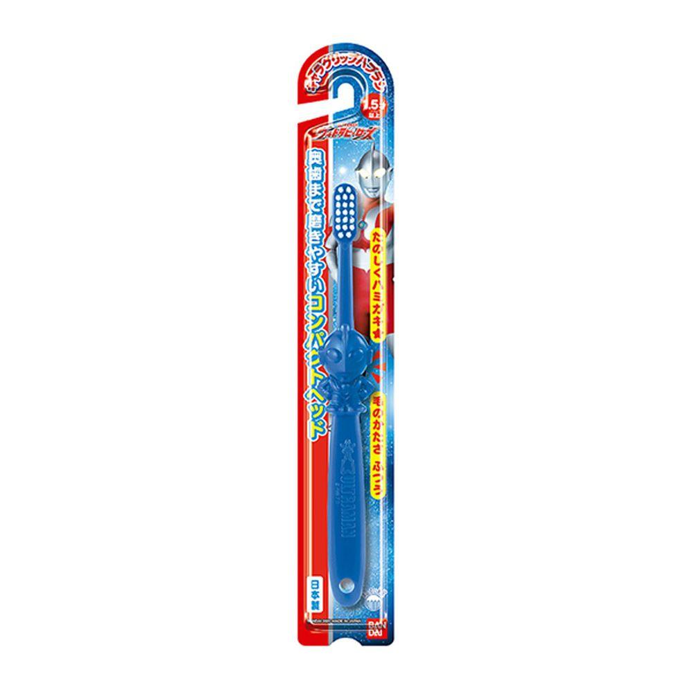 日本 Bandai - 超人力霸王造型牙刷Ⅱ-1.5歲以上-1入-藍