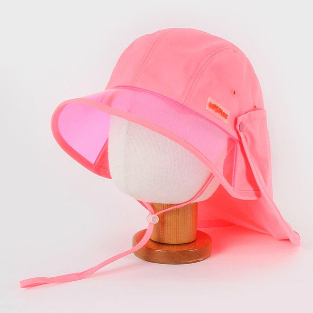 韓國 Babyblee - 抗UV遮陽板遮脖防曬帽-粉紅 (頭圍:L(50-54cm))