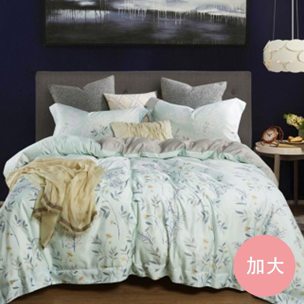 PureOne - 吸濕排汗天絲-春纖-加大四件式床包鋪棉被套組