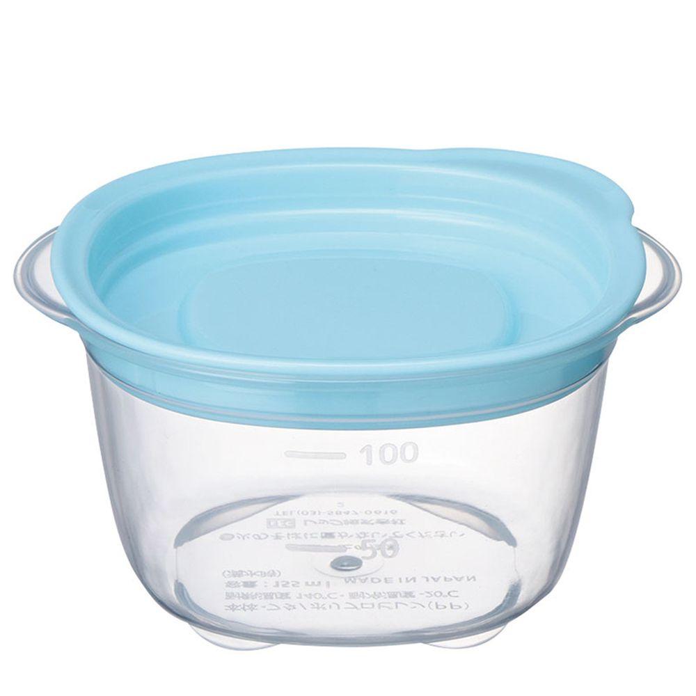 akachan honpo - 副食品分裝盒-清洗容易圓形 M-藍色-4個入/100ml