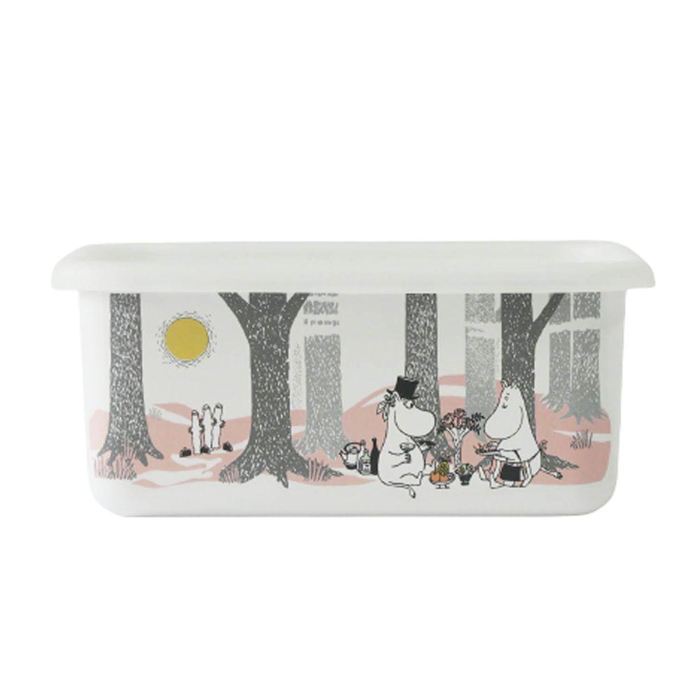 FUJIHORO 富士琺瑯 - 嚕嚕米森林系列-琺瑯烘焙保鮮盒深型-DM-容量:1.12L 重量:0.40kg