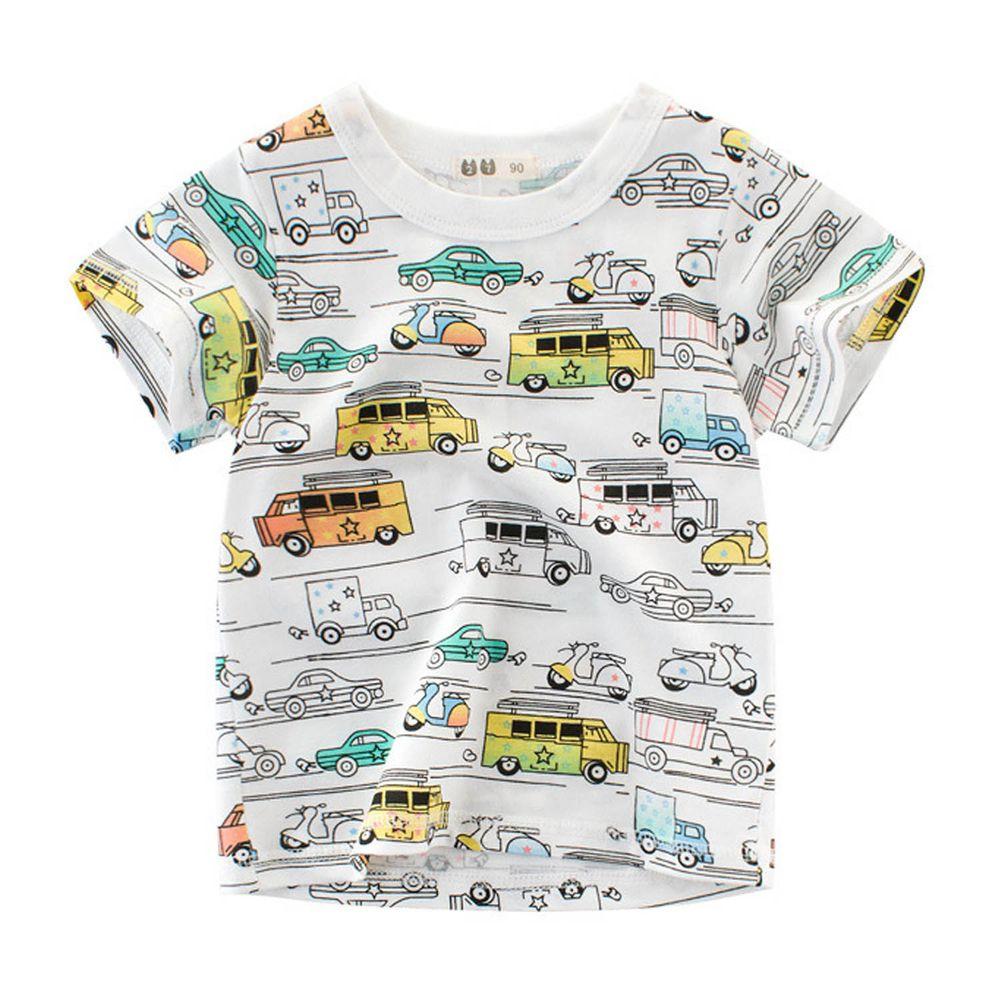 短袖棉T-滿版小汽車